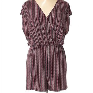BCBGENERATION Striped Romper Size M